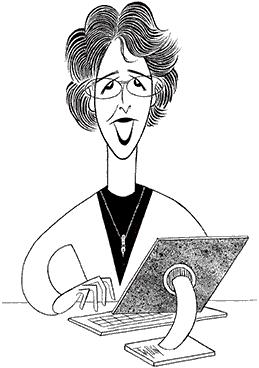 Faye Sholiton - Caricature by Ken Fallin